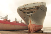 Alang Ship Breaking Yard, India, film still, courtesy of the artist 2016 by Ross Little